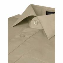Omega Italy Men's Long Sleeve Solid Khaki Button Up Dress Shirt Size 2XL image 2