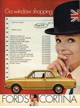 Vintage 1969 Magazine Ad Ford Go Window Shopping Ford Cortina 2-Door $1849.00 - $5.93