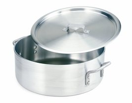 Crestware Extra Heavy Weight Aluminum Braziers with Pan Covers, 20 Quart - $82.88