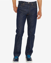 Levis 501 Original (Shrink-To-Fit) Rigid Indigo Blue Button Fly Men's Je... - $49.00+