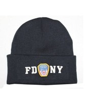 FDNY Winter Hat Police Badge Fire Department Of NYC Navy & White One Size - $13.58