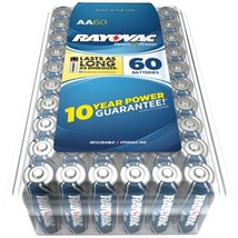 RAYOVAC 815-60PPJ Alkaline Batteries Reclosable Pro Pack (AA, 60 pk) - $48.96