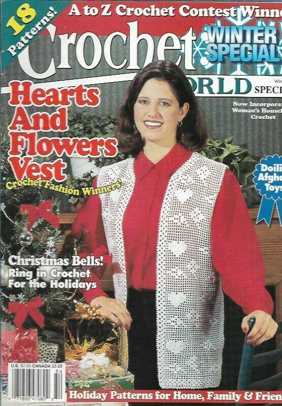 Crochet World Special Winter 1995 Christmas Bells Doilies Afghans Toys & More - $6.23