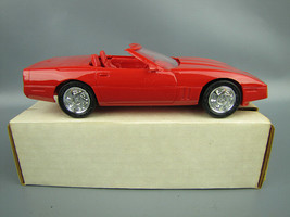 AMT ERTL 1990 Red Corvette Convertible Plastic Promotional Toy Car #6044... - $9.08