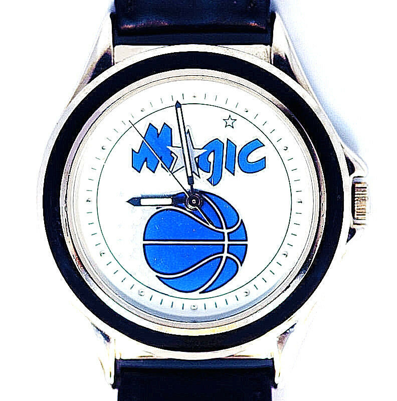 Primary image for Orlando Magic NBA, Fossi/Relicl Unworn Mans Vintage 1996 Leather Band Watch! $89