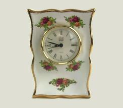 "Vintage Royal Albert Old Country Roses Bone China Mantel Clock England 6"" U8 - $32.68"