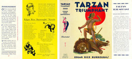 Burroughs, Edgar Rice. TARZAN TRIUMPHANT facsimile jacket 1st Grosset - $27.89