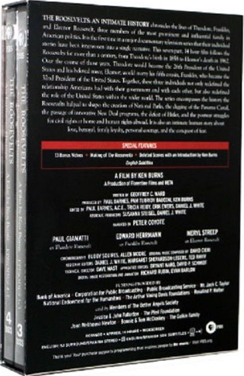 The Roosevelts An Intimate History, PBS Documentary by Ken Burns 7 DVD Set - New