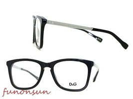 Dolce & Gabbana Women's Eyeglasses D&G1231 501 Black Plastic Rectangle F... - $115.43