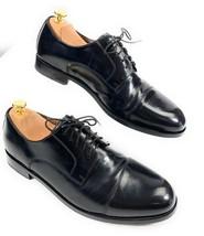 Florsheim Broxton Cap Toe Lace Up Oxford Dress Shoes 11222-001 Black Men's 10D - $44.54