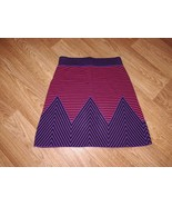 Italian vintage pink and purple striped crochet skirt - $35.00