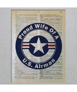 US Air Force Airman Proud Choose A Family Member Dictionary Art Print - $11.00