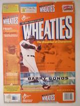 Empty WHEATIES Box 2001 18oz BARRY BONDS Home Run Champion [Z202e2] - $7.22