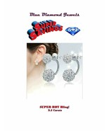 HOT EARRINGS Crystal Ball Clusters 2 in 1 Studs/Jackets 3cts USA SELLER - $9.95