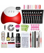 Limegirl® Polygel Set 36W UV LED Lamp For Manicure Set 12 Colors Poly Ge... - $34.93+