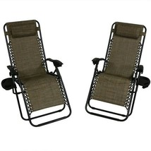 Dark Brown Oversized Lounge Chair, Set Of 2 Home Seating Outdoor - $172.90