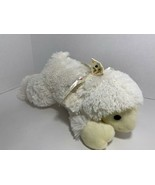 Inter-American plush white ribbon bow rainbow polka dots Easter lamb she... - $19.79