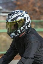 XS Fly Racing Sentinel Ambush Motorcycle Helmet Camo/Black/White DOT & ECE  image 6