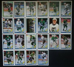 1991-92 Topps Hartford Whalers Team Set of 22 Hockey Cards - $6.00