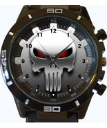 Punisher White Skull New Gt Series Sports Unisex Gift Watch - £27.00 GBP