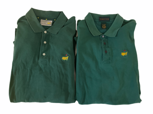 Lot 2 Masters Golf Tournament Augusta National Polo Shirt Men Sz XL Green Izod