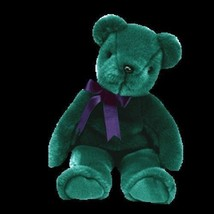 Ty Beanie Buddy Old Face Emeral Green Bear Retired - $5.99