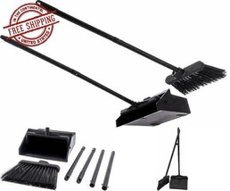 Sweeper Broom And Dustpan Set For Home Restaurant Kitchen Lobby Indoor C... - $23.39