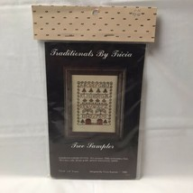 Traditionals By Tricia Tree Counted Cross Stitch Sampler Kit 6x8 Sealed - $14.84