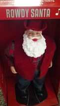 RARE CHRISTMAS ANIMATED DANCING SINGING ROWDY SANTA CLAUS TRIM A HOME NEW - $149.99