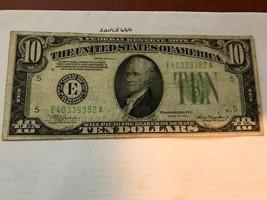 United States Hamilton $10 circulated banknote 1934 A #7 - $19.95