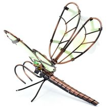 Dragonfly with Glow in the Dark Wing Pot Edge Sitter on Hook Garden Decoration image 3