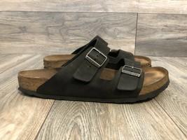 Birkenstock Sandals Black Leather Size 13 - $34.65