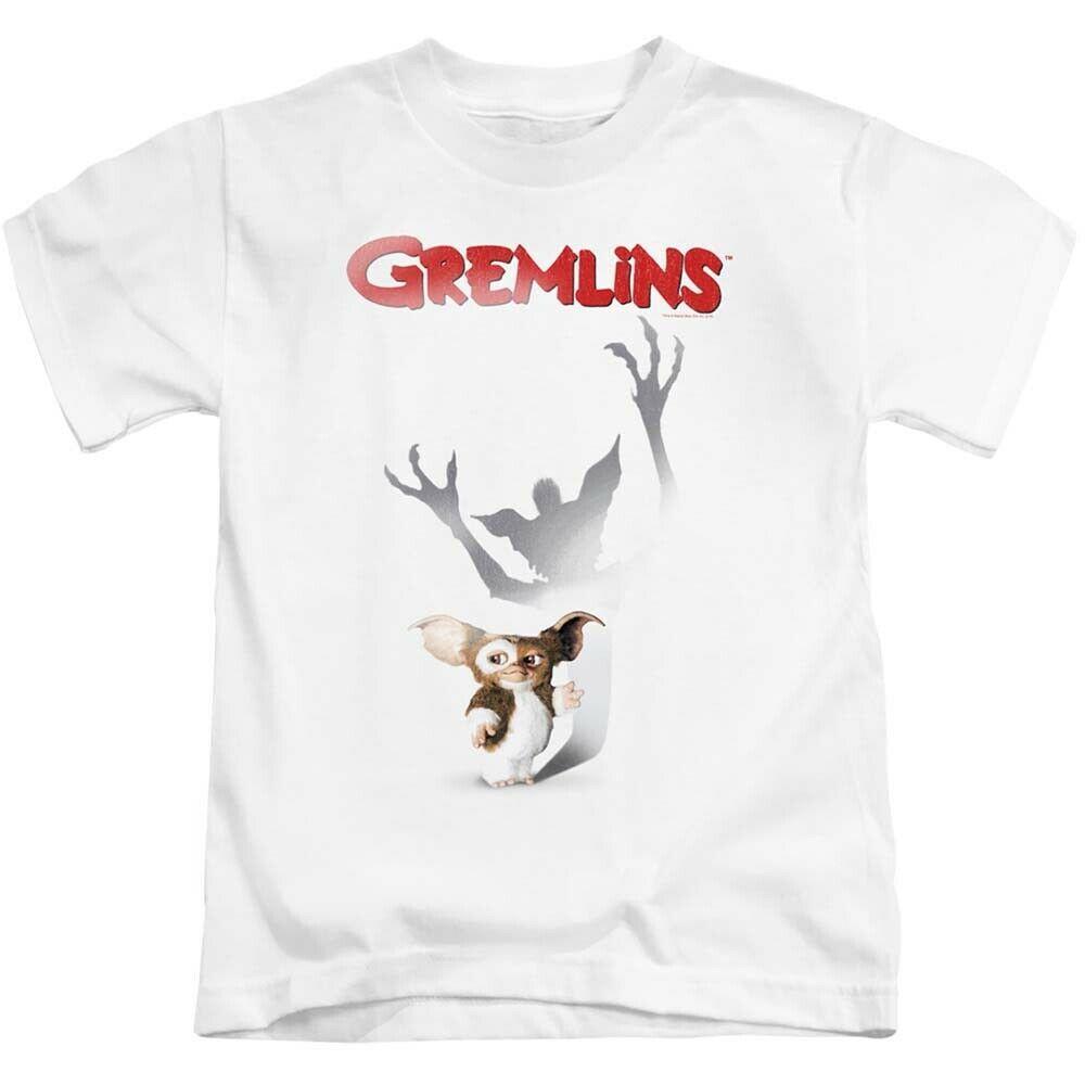 Gremlins t shirt retro 1980s movie poster graphic printed cotton white tee