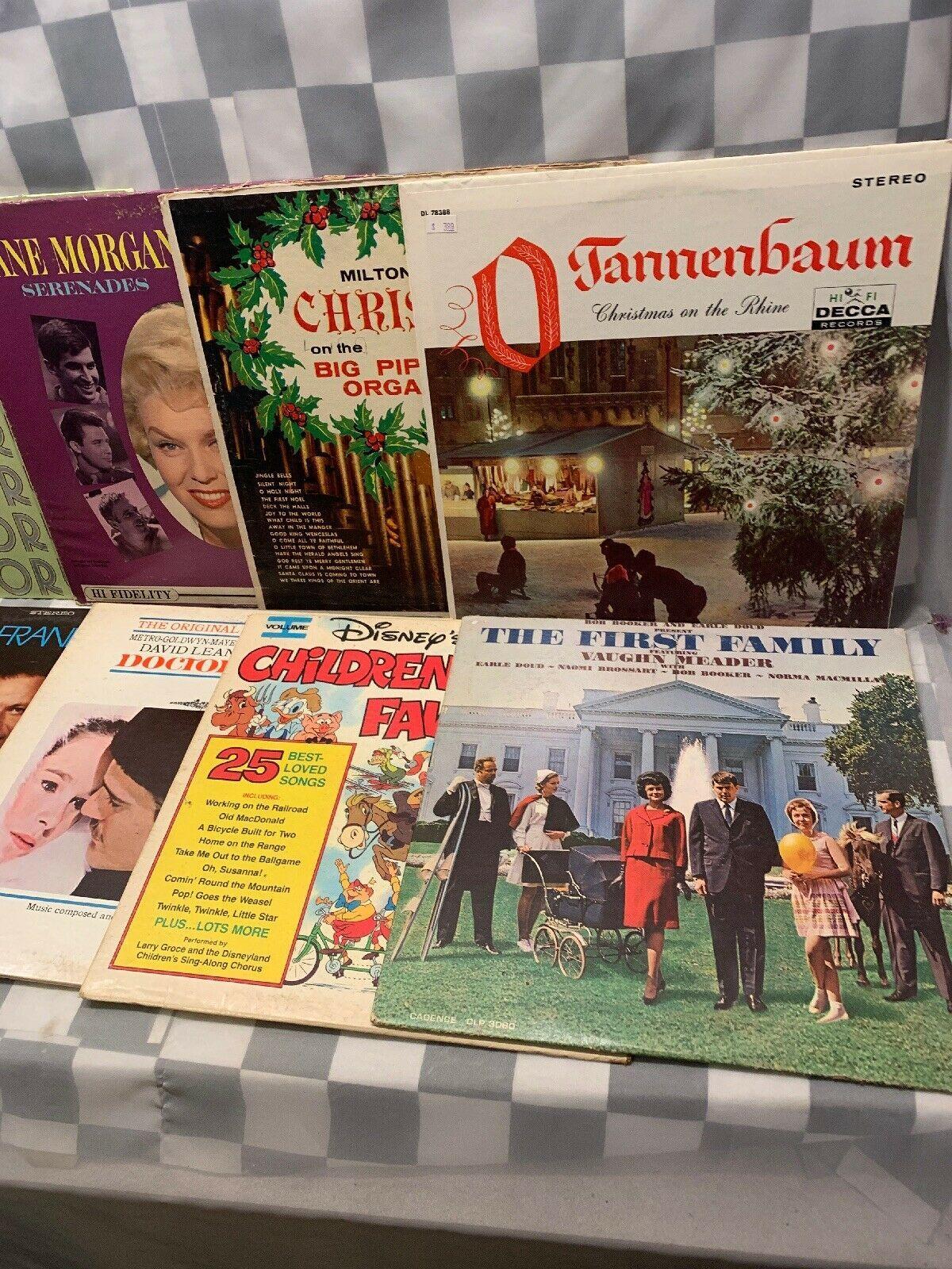 (Lot of 10) LP Record Album Vinyl Christmas Jane Morgan Chorus Line Swaggart