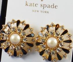 NWT Kate Spade New York Tuxedo Pearls Stud Earrings Black Gold $125 - $52.99