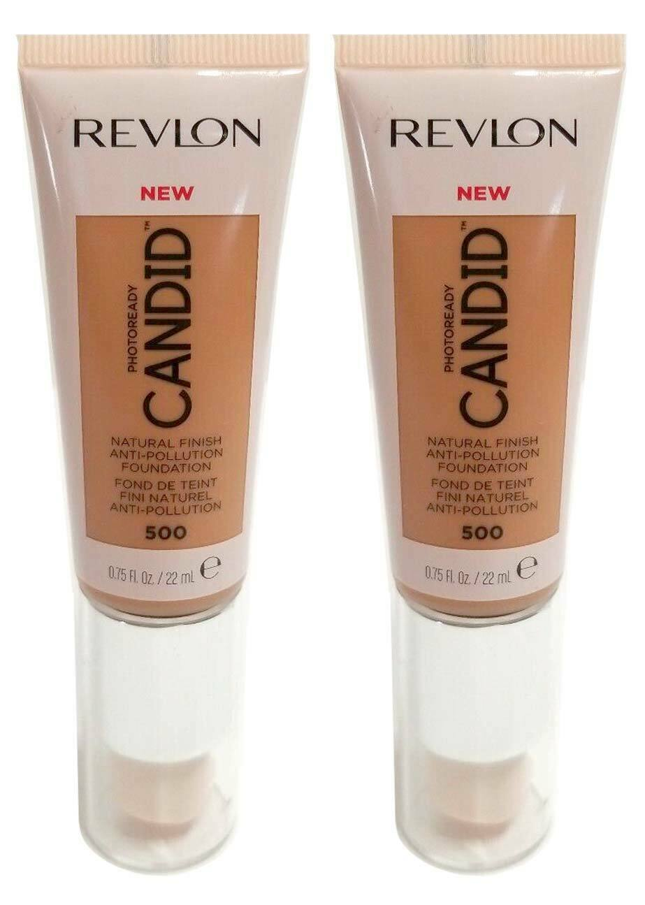 Primary image for Lot of 2, Revlon PhotoReady Candid Anti-Pollution Foundation 530 Pecan
