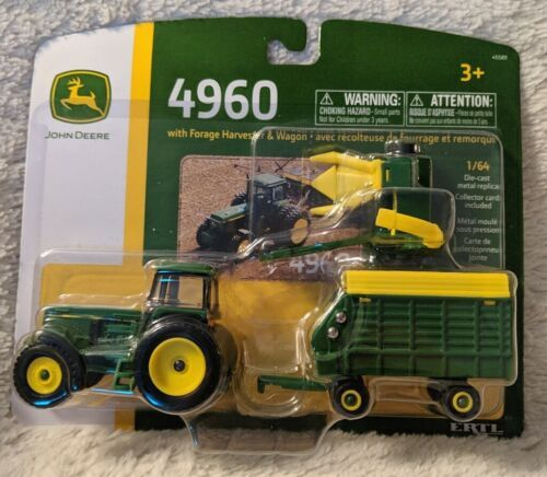 John Deere LP67313 ERTL 4960 Forage Harvester And Wagon Tractor Collectible Toy