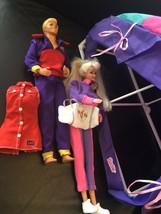 Vintage 1988 Ken & 1993 Gymnast Barbie And Gym Plus Accessories - $34.64