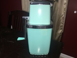 Swing A Way Ice Crusher Turquoise Blue Working Mid Century Bar Kitchen RARE - $93.49