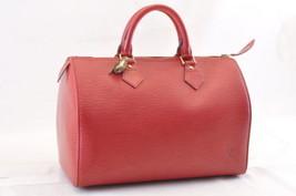 Louis Vuitton Epi Speedy 30 Hand Bag Red M43007 Lv Auth 6364 - $398.00