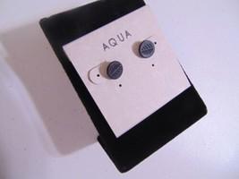 "Aqua 1/4"" Black Tone Leaf Stud Earrings N473 - $7.16"