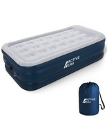 Air Mattress Single Inflatable Air Bed Electric Built In Pump And Raised... - £84.57 GBP