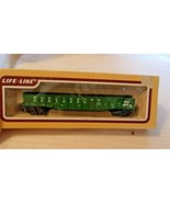 HO Scale Life-Like 50' Gondola, Burlington Northern, Green, #553557 BNOS - $14.85