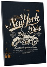 "Pingo World 0722QA4SHMS ""New York Rider Motorcycle"" Gallery Wrapped Canvas Wall  - $158.35"