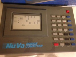 VTG Vintage Nu Va NuVa Bridge Computer Game NV-211 Electronic Bridge Car... - $24.70