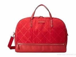 Vera Bradley Luggage Preppy Poly Travel Bag Tango Red Duffel Bag Versati... - $123.74