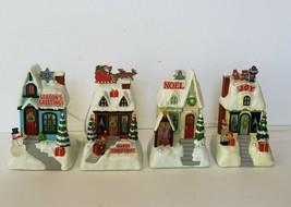 2009 Hallmark Caroling Cottages Set 4 Musical Christmas Synchronized Mus... - $45.00