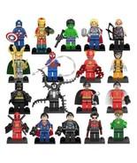 Marvel DC Avengers Batman Venom Deadpool Super Heroes Minifigurines Set - $31.00