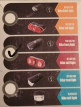 BX002W BIKE FRONT LIGHT AND BX002R TAIL LIGHT - $12.00