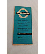 Vintage  London Street Map Places of Interest Bus Routes Underground Sta... - $10.44